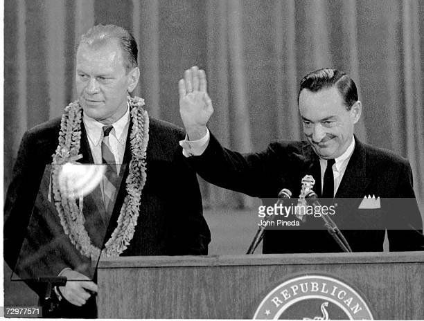 During The Republican National Convention American Politicians Gerald Ford Then Minority Leader Of The United States