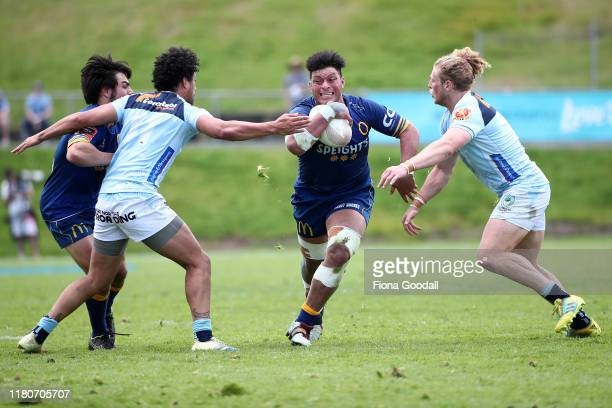 during the round 10 Mitre 10 Cup match between Northland and Otago at Semenoff Stadium on October 13 2019 in Whangarei New Zealand