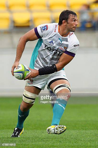during the round five Super Rugby match between the Hurricanes and the Cheetahs at Westpac Stadium on March 15 2014 in Wellington New Zealand