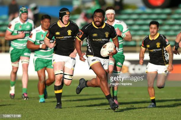 during the round six Mitre 10 Cup match between Manawatu and Wellington at Central Energy Trust Arena on September 23 2018 in Palmerston North New...