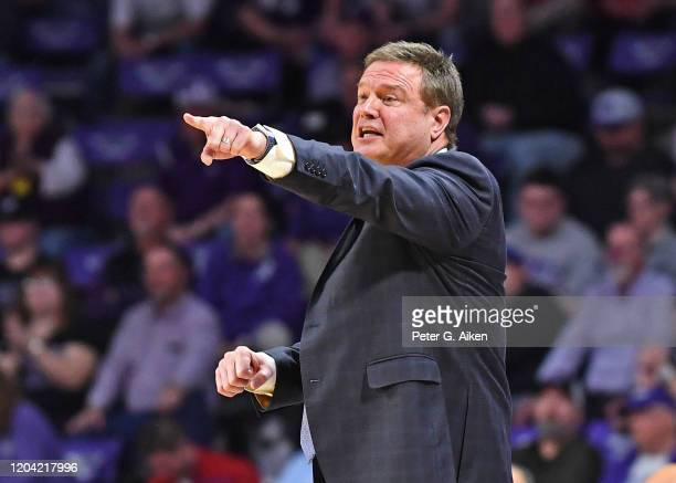 During the second half at Bramlage Coliseum on February 29, 2020 in Manhattan, Kansas.