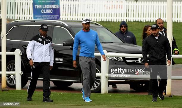 during the second round of the Omega Dubai Desert Classic at Emirates Golf Club on February 3 2017 in Dubai United Arab Emirates
