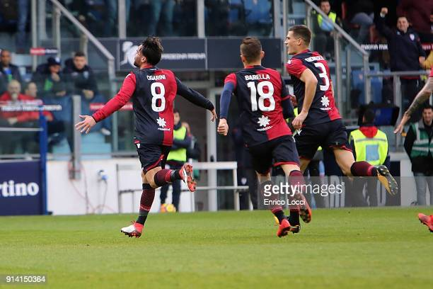 during the serie A match between Cagliari Calcio and Spal at Stadio Sant'Elia on February 4 2018 in Cagliari Italy