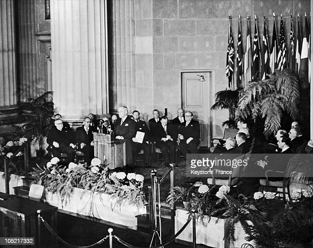 During The Signing Of The North Atlantic Treaty On April 4 US President Harry Truman Gave A Speech In Washington In Which He Saluted The Foundation...