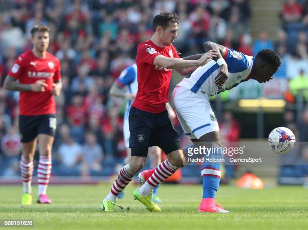 During the Sky Bet Championship match between Blackburn Rovers and Barnsley at Ewood Park on April 8, 2017 in Blackburn, England.