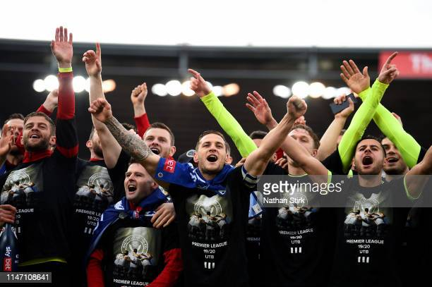 during the Sky Bet Championship match between Stoke City and Sheffield United at Bet365 Stadium on May 05 2019 in Stoke on Trent England