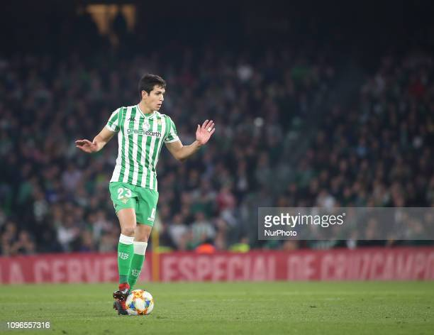 MANDI during the Spanish Copa del Rey semifinal first leg football match between Real Betis and Valencia CF at the Benito Villamarin stadium in...