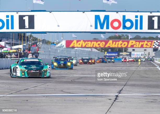 During the start 12 hours of Seabring Race on March 17 2018, at Sebring International Raceway in Sebring, FL.