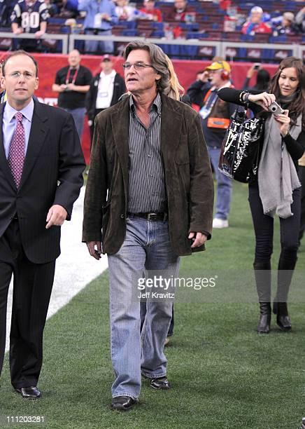 during the Super Bowl XLII pregame show on February 3 2008 at University of Phoenix Stadium in Glendale Arizona