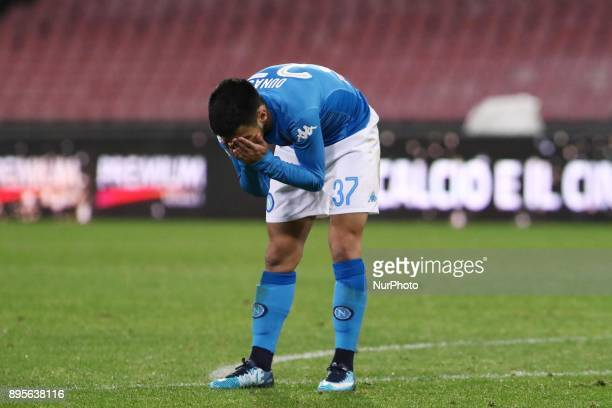 during the TIM Cup match between SSC Napoli and Udinese Calcio at Stadio San Paolo on December 19 2017 in Naples Italy