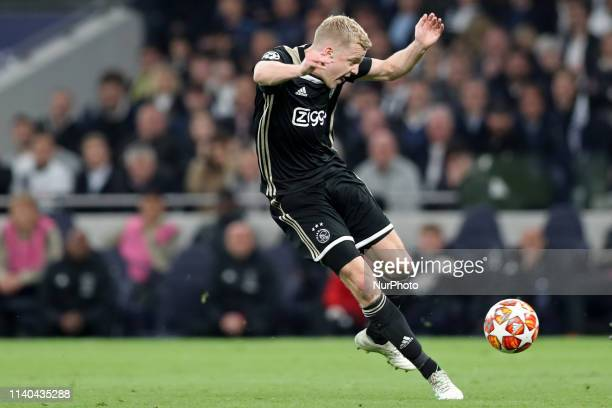 during the UEFA Champions League match between Tottenham Hotspur and Ajax Amsterdam at White Hart Lane London on Tuesday 30th April 2019