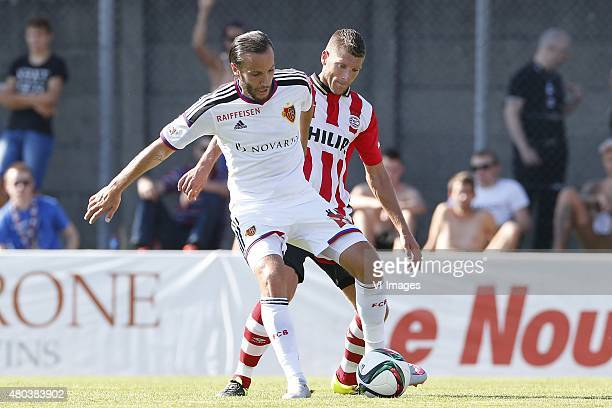 During the Valais Cup friendly match between PSV Eindhoven and FC Basel on July 11, 2015 at the Stade FC Solothurn in Soleure, Switzerland.