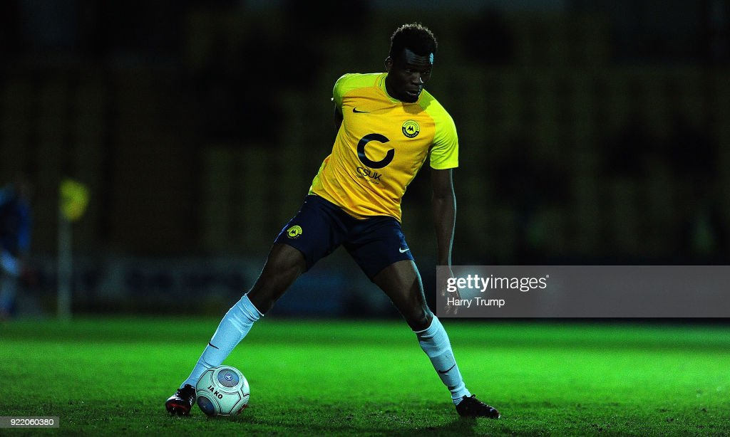 during the Vanarama National League match between Torquay United and Sutton United at Plainmoor on February 20, 2018 in Torquay, England.