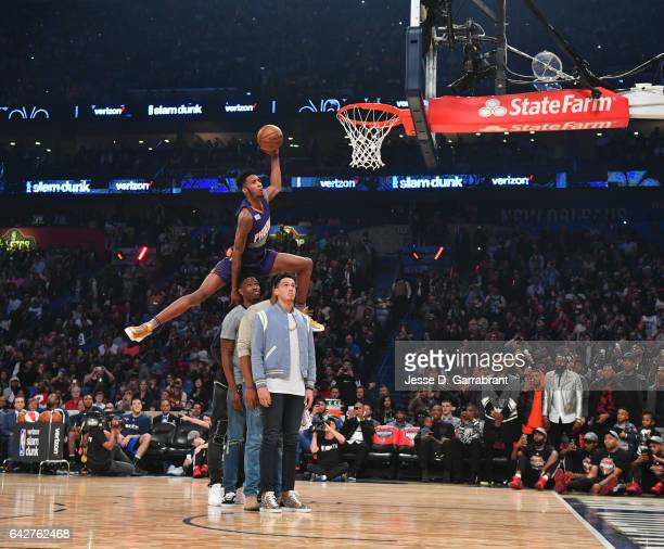 during the Verizon Slam Dunk Contest as part of 2017 AllStar Weekend at the Smoothie King Center on February 18 2017 in New Orleans Louisiana NOTE TO...