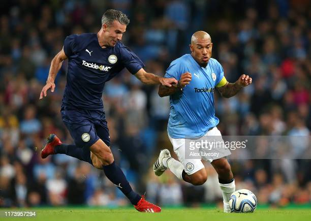 during the Vincent Kompany testimonial match between Manchester City Legends v Premier League AllStars XI at Etihad Stadium on September 11 2019 in...