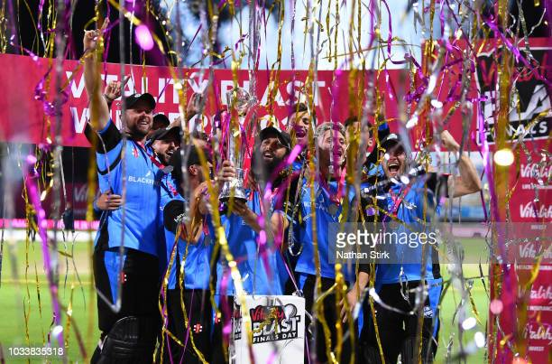 during the Vitality Blast Final match between Worcestershire Rapids and Sussex Sharks at Edgbaston on September 15 2018 in Birmingham England