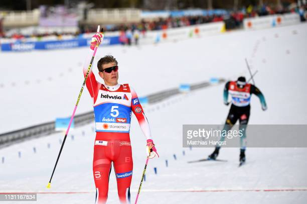 during the Women's Cross Country Sprint Final at the Stora Enso FIS Nordic World Ski Championships on February 21 2019 in Seefeld Austria