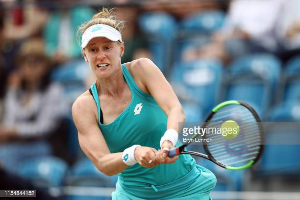 during the Women's Single Final at Surbiton Racquet Fitness Club on June 09 2019 in London England