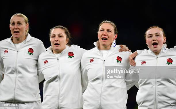 during the Women's Six Nations match between England and France at Twickenham Stadium on February 4 2017 in London England