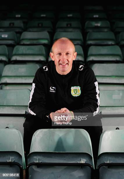 during the Yeovil Town media access day at Huish Park on January 23 2018 in Yeovil England