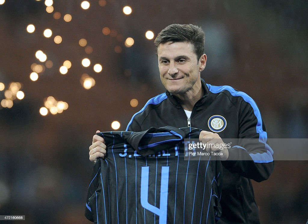 during the Zanetti and friends Match for Expo at Stadio Giuseppe Meazza on May 4, 2015 in Milan, Italy.