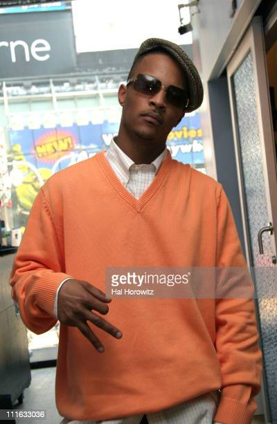 TI during TI Visits MTV2's Sucker Free Countdown February 15 2006 at MTV Studio Times Square in New York City New York United States