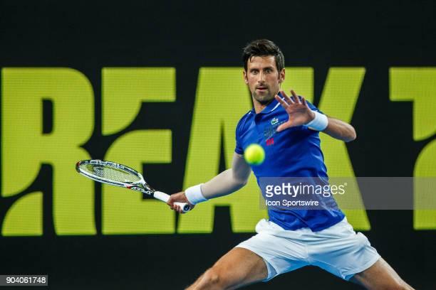 during Tie Break Ten event on January 10 2018 leading up to the 2018 Australian Open at Melbourne Park Tennis Centre Melbourne Australia