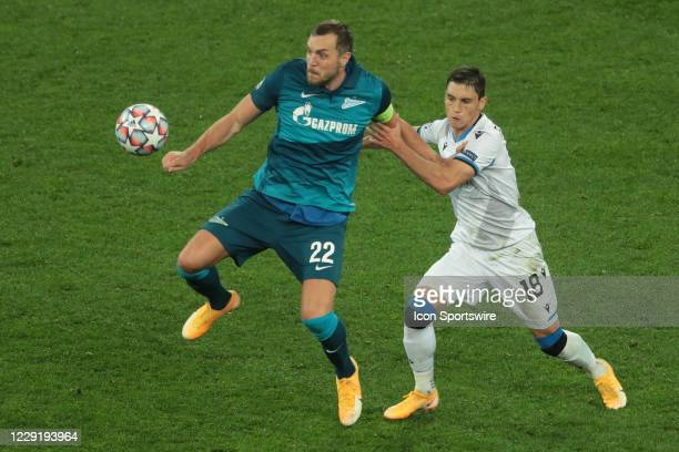 During UEFA Champions League match Group stage, Group F FC Zenit v FC Brugge on October 20, 2020 at Gazprom Arena in Saint Petersburg, Russia.