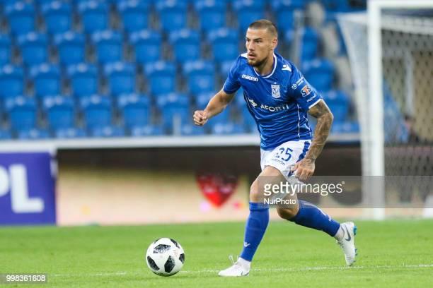 during UEFA Europa League Elimination First qualifying round match between Lech Poznan and Gandzasar Kapan at Stadium Miejski in Poznan Poland on 12...