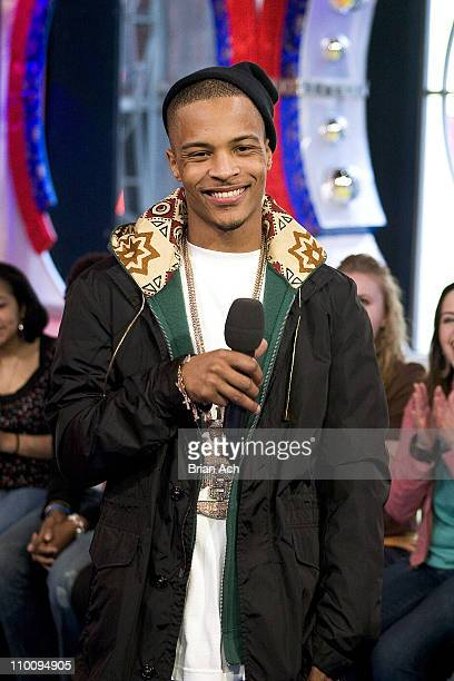 TI during Wilmer Valderrama and TI Visit MTV's TRL March 27 2006 at MTV Studios in New York City New York United States