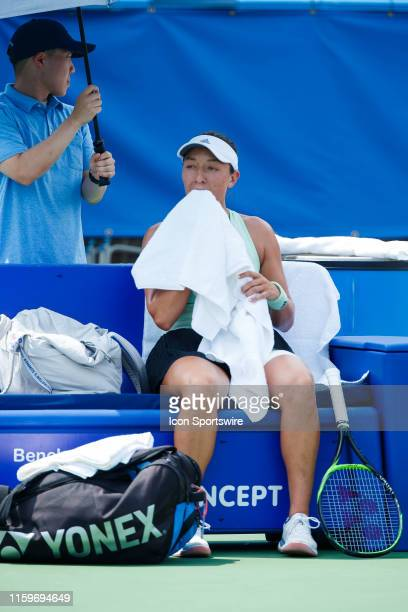 During women's singles finals match of the 2019 Citi Open on August 4 ,2019 at Rock Creek Park Tennis Center in Washington D.C.