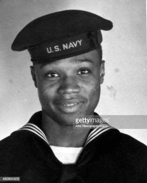 During World War 2, African American soldier John Harris, 1942.
