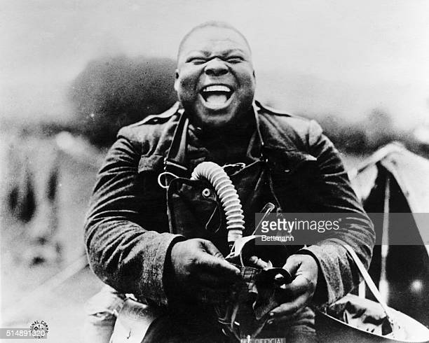 During World War I gas mask drill something strikes a Black soldier's funnybone