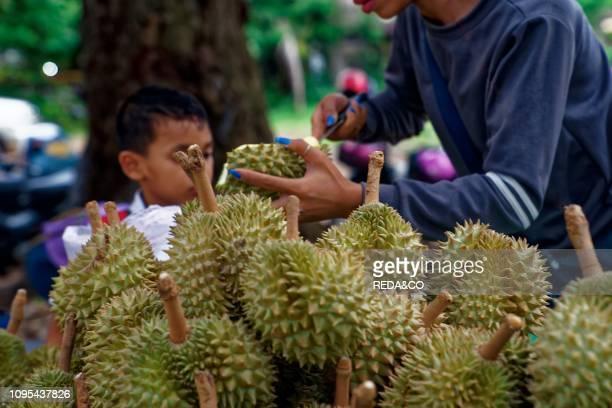 Durium tradition fruit Market SiemReap Cambodia Indochina Southeast Asia Asia