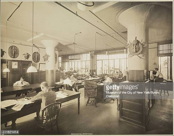 E R Durkee Co factory's bookkeeping department in Elmhurst Queens with office workers New York New York 1922