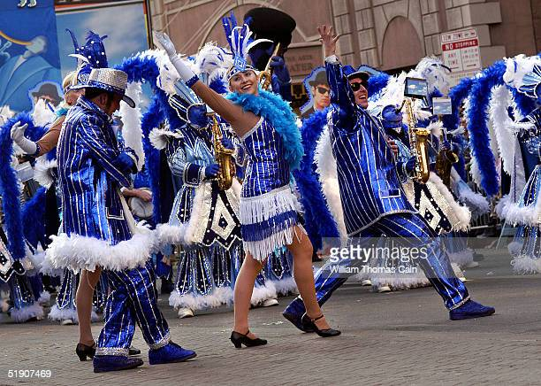Durning String Band members perform It Had To Be Blue during the Philadelphia Mummers Parade January 1 2005 in Philadelphia Pennsylvania The parade...