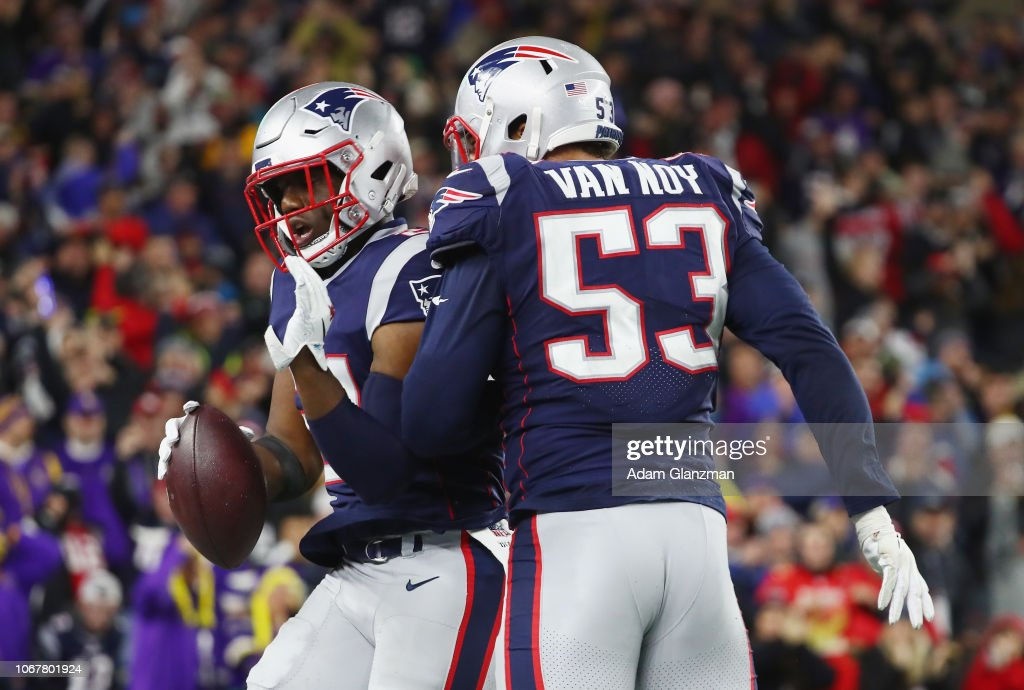 6406d854eab Duron Harmon of the New England Patriots celebrates after... News ...
