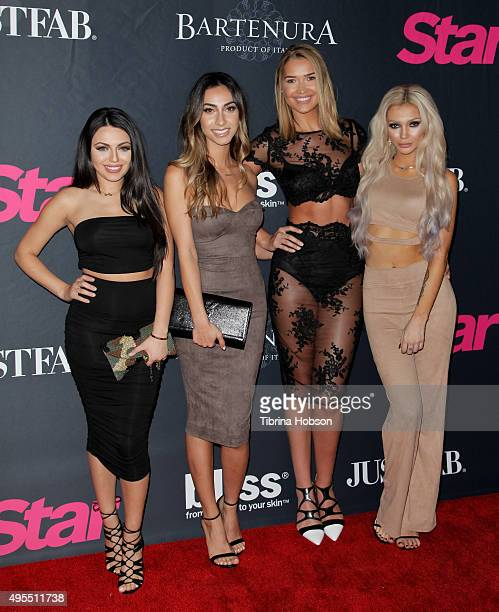 Durrani Popal Nazy Farnoosh Mel Rae Kandil Caroline Burt attend Star Magazine's Scene Stealers party at W Hollywood on October 22 2015 in Hollywood...
