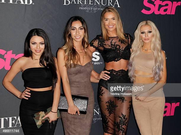 Durrani Popal Nazy Farnoosh Mel Rae Kandil Caroline Burt attend Star Magazine's Scene Stealers party at W Hollywood on October 22 2015 in Hollywood...