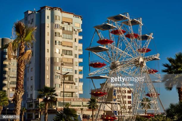 durres port city in albania - durazzo foto e immagini stock