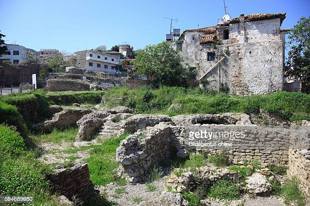 Durres second largest city of Albania archaeological site at the Amphitheatre