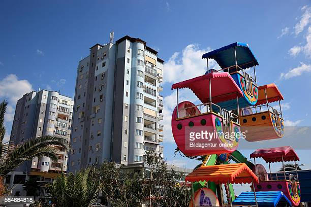 Durres second largest city of Albania houses at the promenade