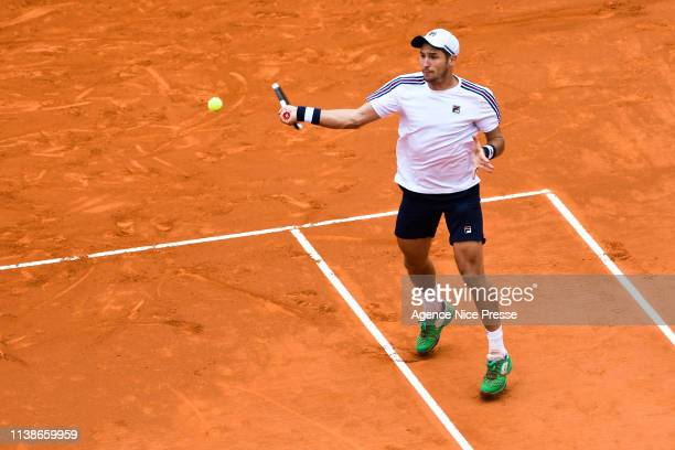 Dusan Lajovic of Serbia during the 2019 Monte Carlo Rolex Masters 1000 day one on April 21 2019 in Monaco Monaco