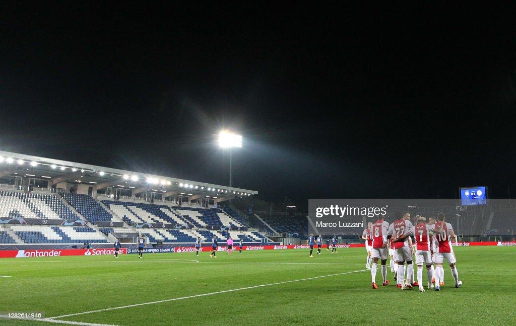 Atalanta BC v Ajax Amsterdam: Group D - UEFA Champions League : News Photo