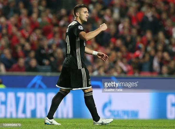 Dusan Tadic Of Ajax Celebrates After Scoring A Goal During