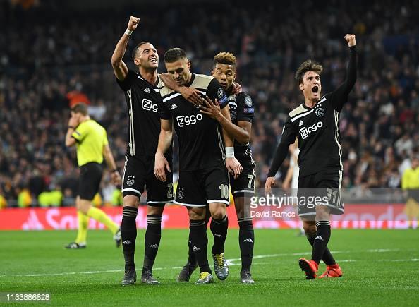 Dusan Tadic Of Ajax Celebrates As He Scores His Team's