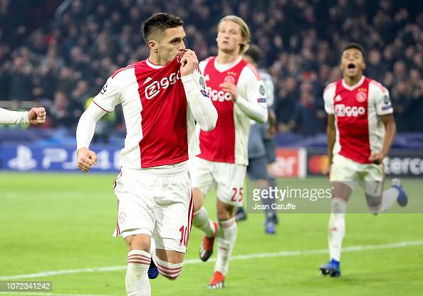 Dusan Tadic Of Ajax Celebrates His Second Goal During The