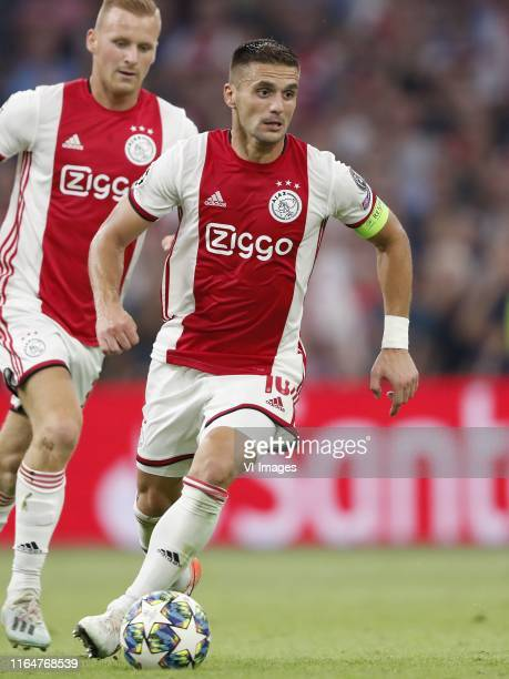 Dusan Tadic of Ajax during the UEFA Champions League play off qualifying second leg match between Ajax Amsterdam and APOEL FC at the Johan Cruijff...