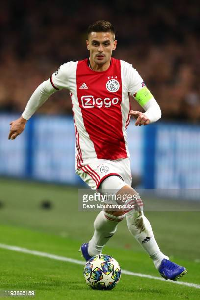 Dusan Tadic of Ajax in action during the UEFA Champions League group H match between AFC Ajax and Valencia CF at Amsterdam Arena on December 10, 2019...