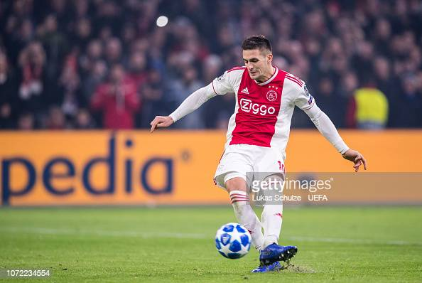 Dusan Tadic Of Amsterdam Scores The Penalty And The Second